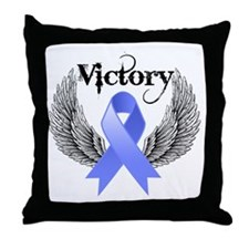 Victory Stomach Cancer Throw Pillow
