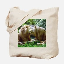 Affectionate Lions Tote Bag
