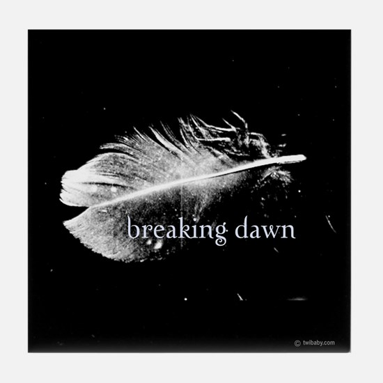 Breaking Dawn Feather by Twibaby Tile Coaster