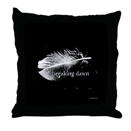 Breaking Dawn Feather by Twibaby Throw Pillow