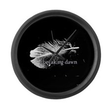 Breaking Dawn Feather by Twibaby Large Wall Clock