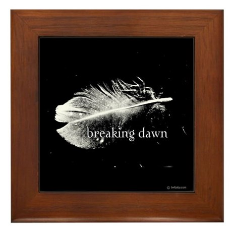 Breaking Dawn Feather by Twibaby Framed Tile