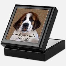 St Bernard Puppy Cookie Keepsake Box
