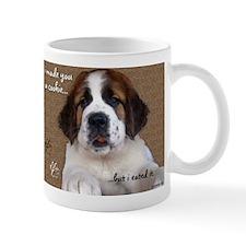 St Bernard Puppy Cookie Mug