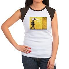 Umbrella Series: Yellow Women's Cap Sleeve T-Shirt
