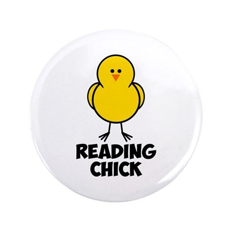 """Reading Chick 3.5"""" Button"""