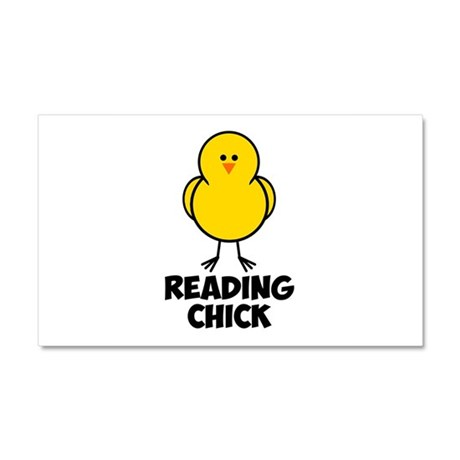 Reading Chick Car Magnet 20 x 12