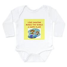 line dancing Long Sleeve Infant Bodysuit