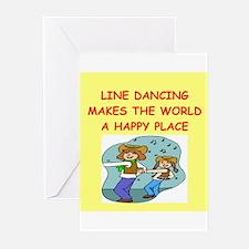 line dancing Greeting Cards (Pk of 10)