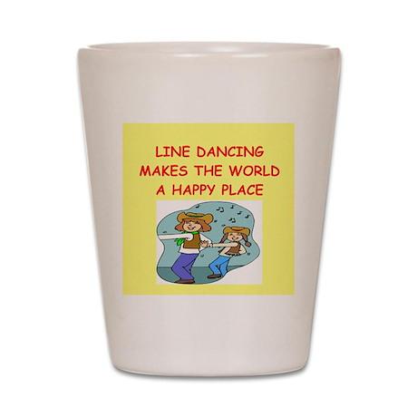 line dancing Shot Glass