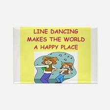 line dancing Rectangle Magnet