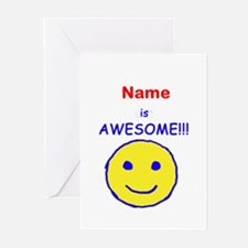 I am Awesome (personalized) Greeting Cards (Pk of