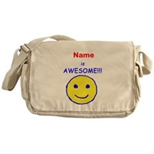 I am Awesome (personalized) Messenger Bag