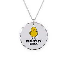 Reality TV Chick Necklace Circle Charm
