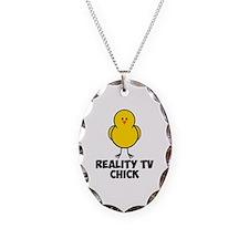 Reality TV Chick Necklace Oval Charm