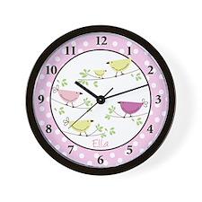 Penelope Pink Bird Wall Clock - Ella
