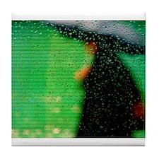 Umbrella Series: Green Tile Coaster
