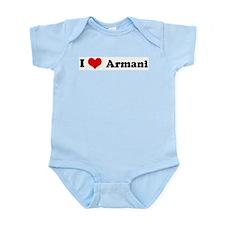 I Love Armani Infant Creeper