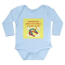 hirseshoes Long Sleeve Infant Bodysuit