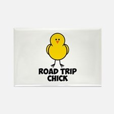 Road Trip Chick Rectangle Magnet