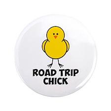 "Road Trip Chick 3.5"" Button"