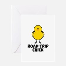 Road Trip Chick Greeting Card