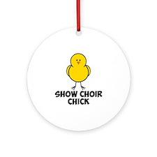 Show Choir Chick Ornament (Round)