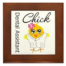 Dental Assistant Chick Framed Tile