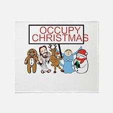 Occupy Christmas Throw Blanket