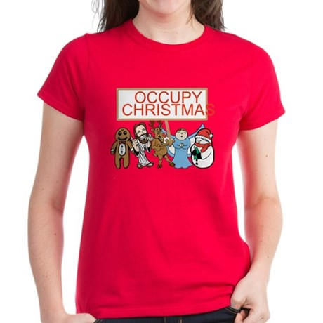 Occupy Christmas Women's Dark T-Shirt