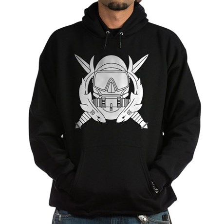 Combat Diver B-W Hoodie (dark)