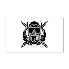 Combat Diver B-W Car Magnet 20 x 12