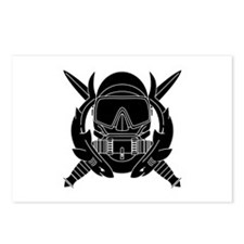 Combat Diver B-W Postcards (Package of 8)
