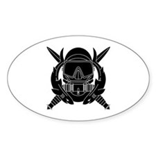 Combat Diver B-W Decal