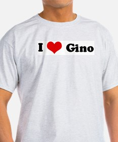 I Love Gino Ash Grey T-Shirt