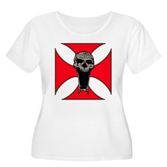 skull on red iron cross T-Shirt