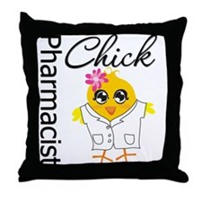 Pharmacist Chick Throw Pillow