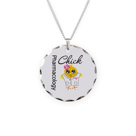 Pharmacology Chick Necklace Circle Charm