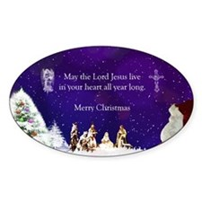 Santa in Nativity Decal