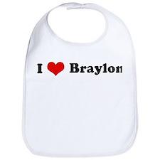 I Love Braylon Bib