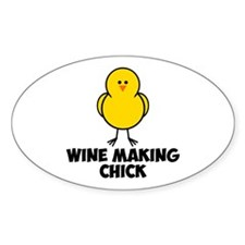 Wine Making Chick Decal