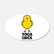 Yoga Chick 22x14 Oval Wall Peel