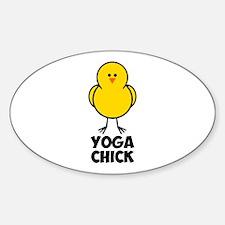Yoga Chick Sticker (Oval)
