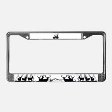 One shot one kill License Plate Frame