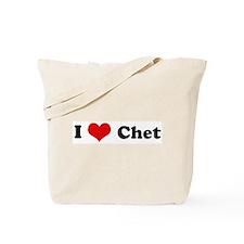 I Love Chet Tote Bag