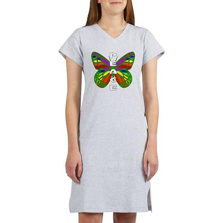 Peace Butterfly Women's Nightshirt