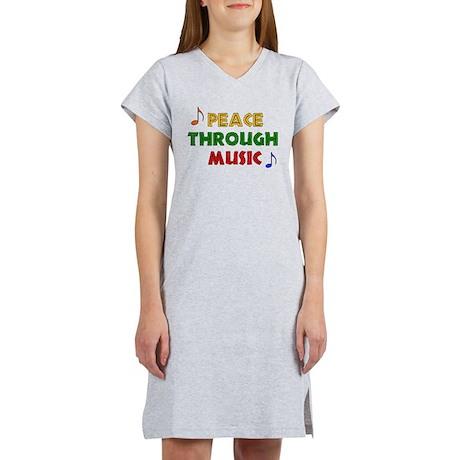 Peace Through Music Women's Nightshirt