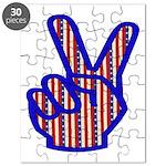 Patriotic Peace Sign Puzzle
