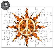 Flaming Peace Sun Puzzle
