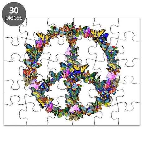 Butterflies Peace Sign Puzzle